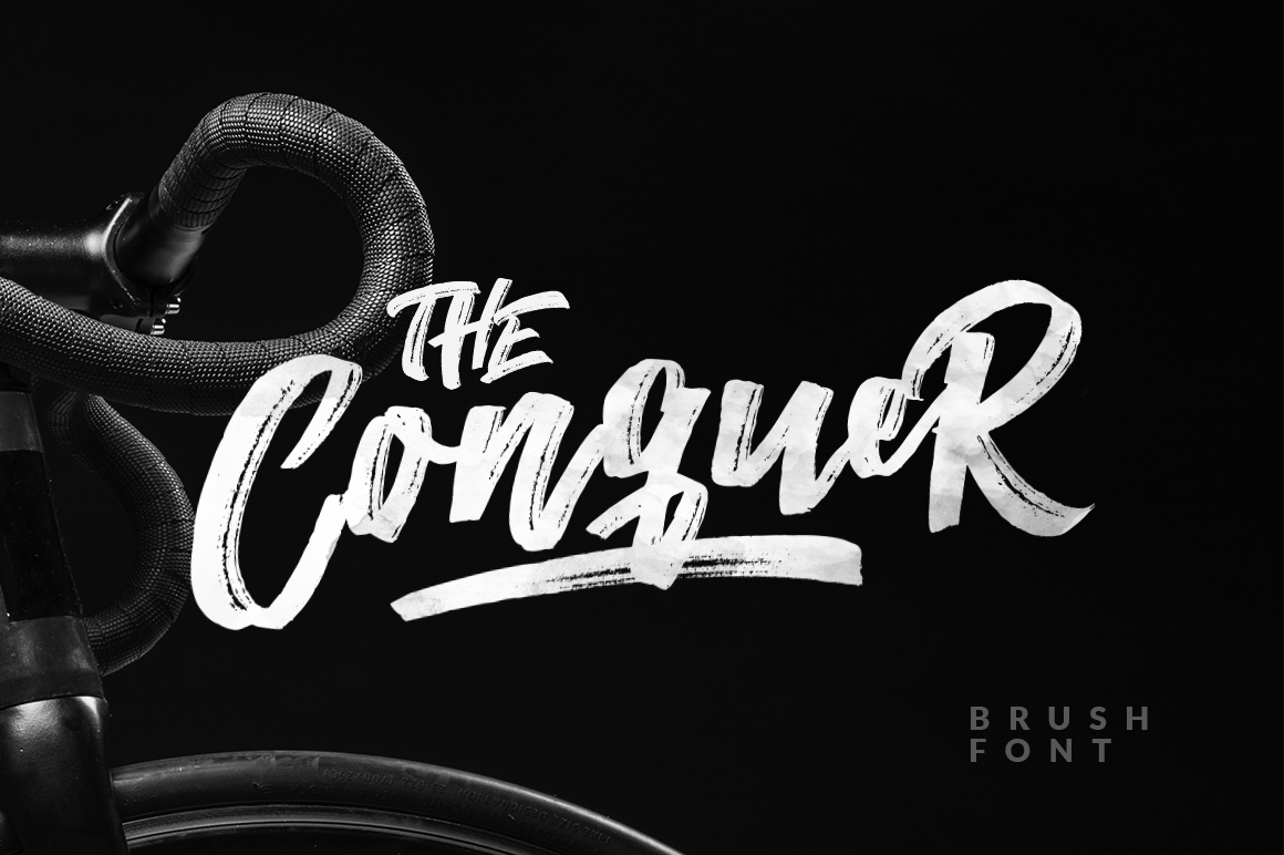 The Conquer Brush Typeface example image 1