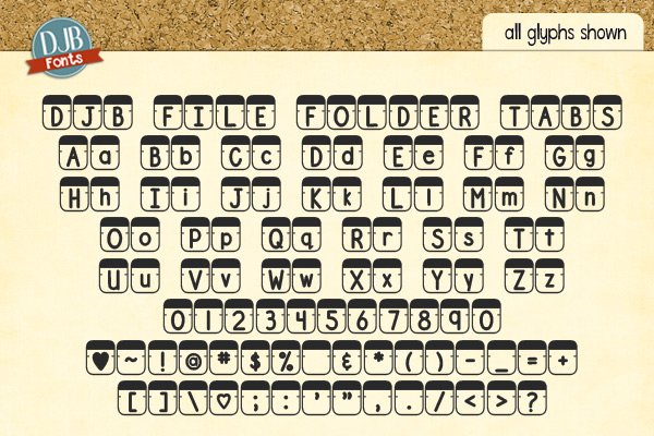 DJB File Folder Fonts example image 5