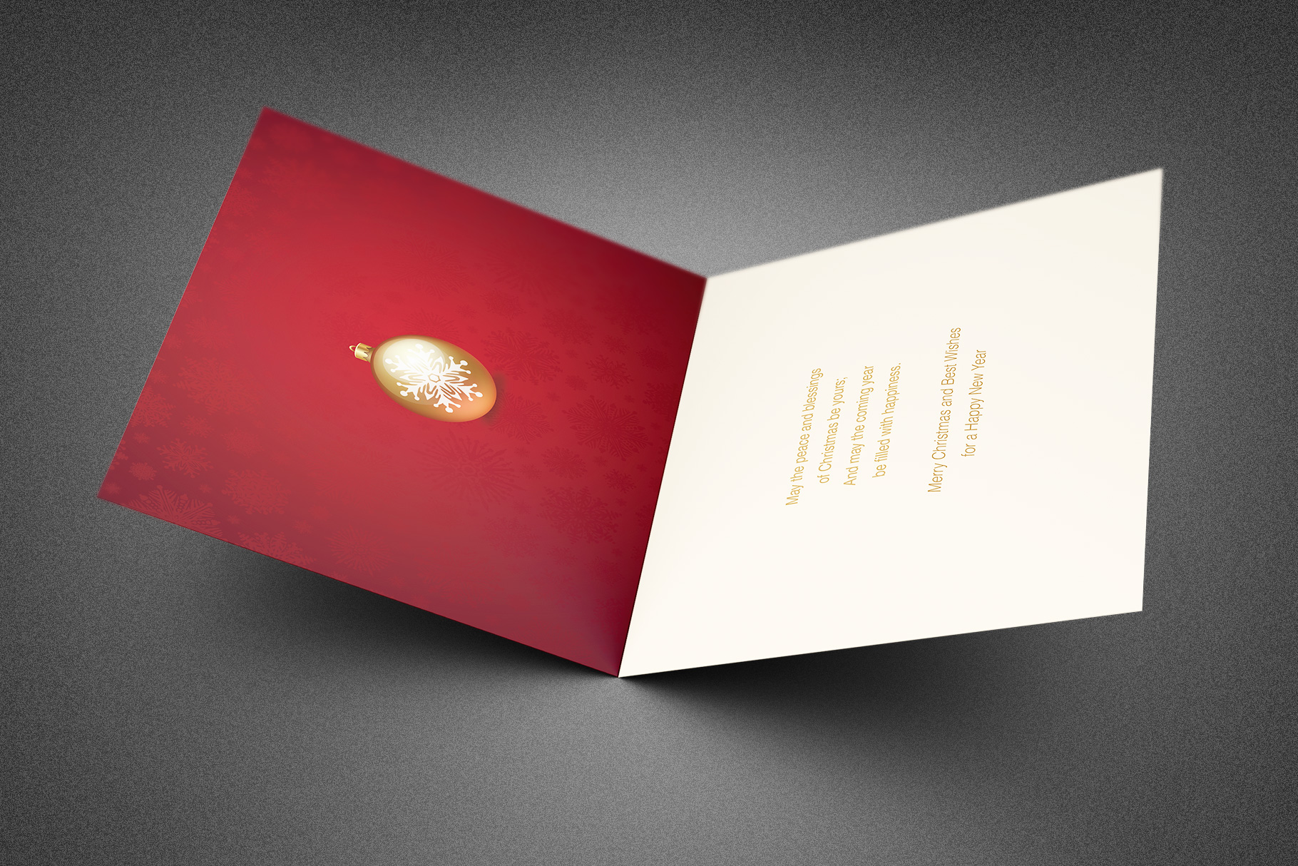 Retro Christmas Greeting Card Template example image 2