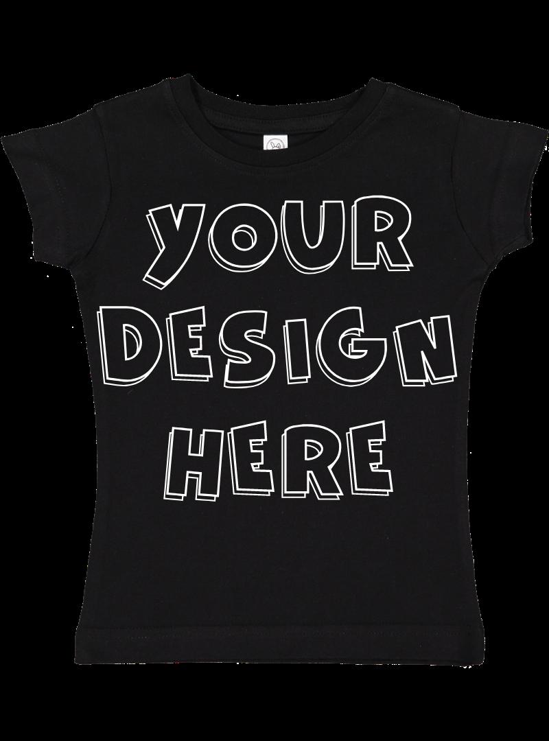 Toddler Gilrs Flat Jersey T Shirt Mockups - 17 example image 3