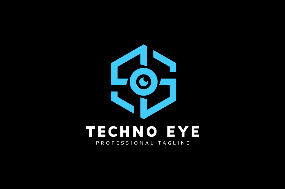 Techno Eye Logo example image 2