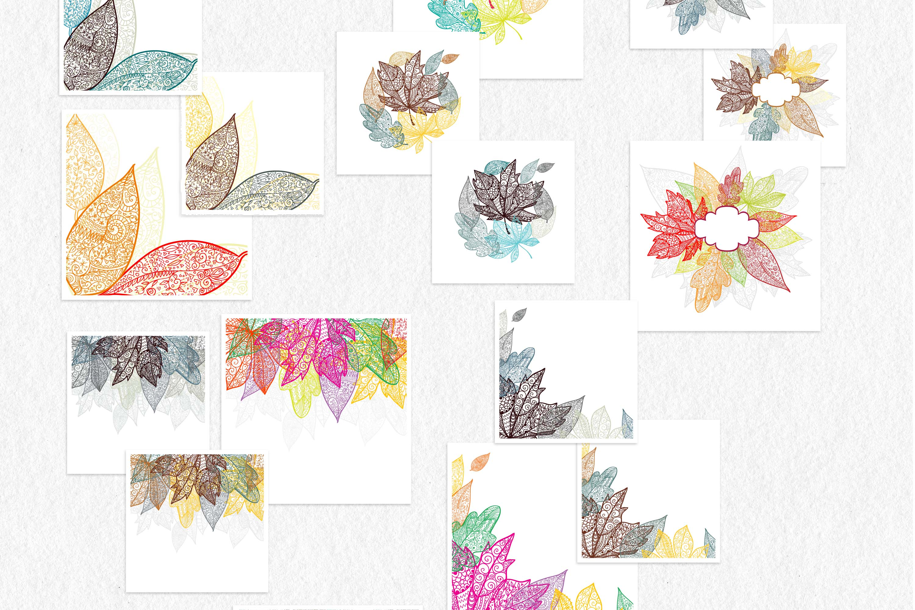 Leaves and pumpkins kit EPS example image 7