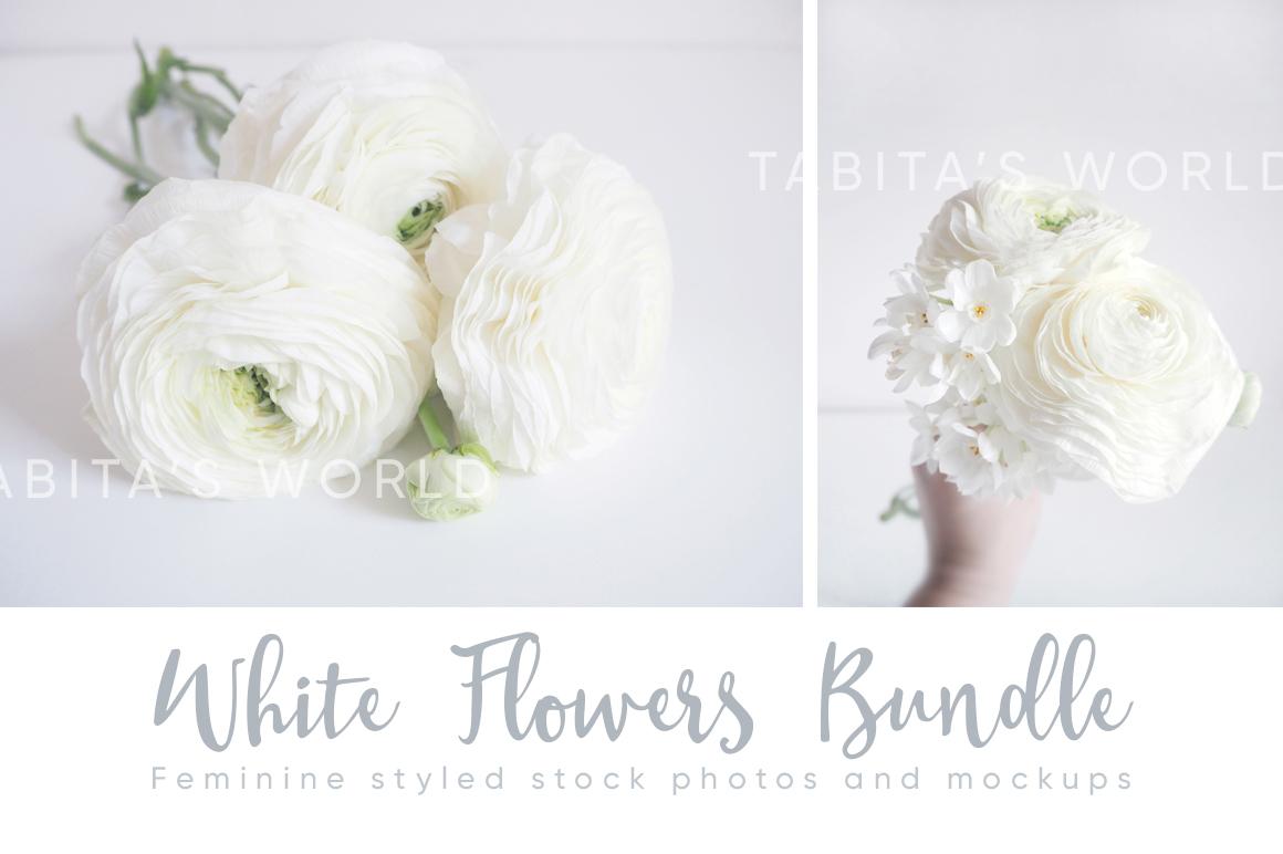 The White Flowers mock ups & photos bundle example image 6