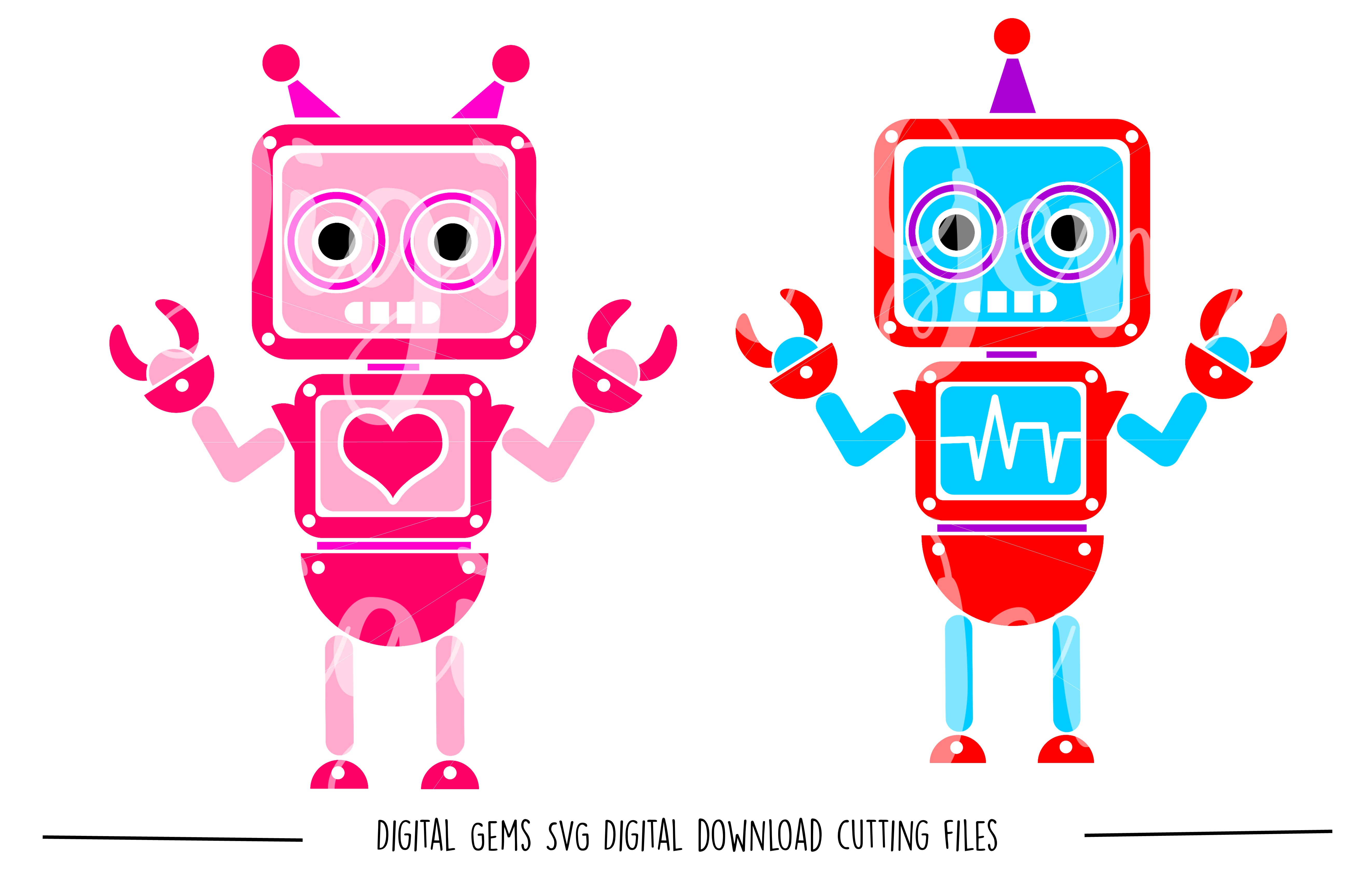 Robot SVG / DXF / EPS / PNG files example image 1