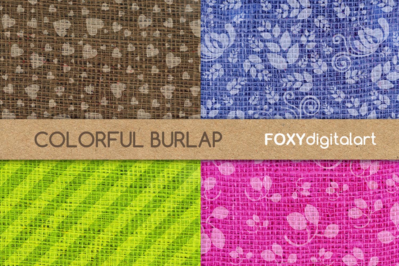 Digital paper burlap linen jute sackcloth canvas texture example image 3