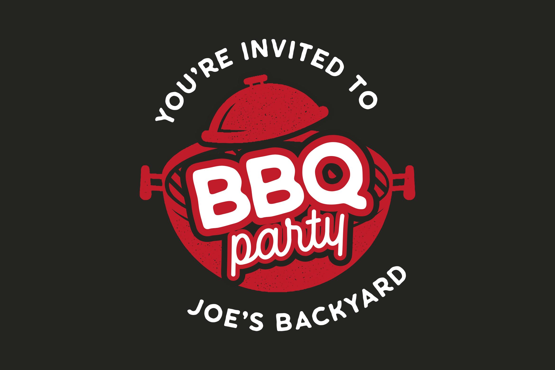BBQ Party Logo Design TShirt. Retro Vector SVG Cut File example image 1