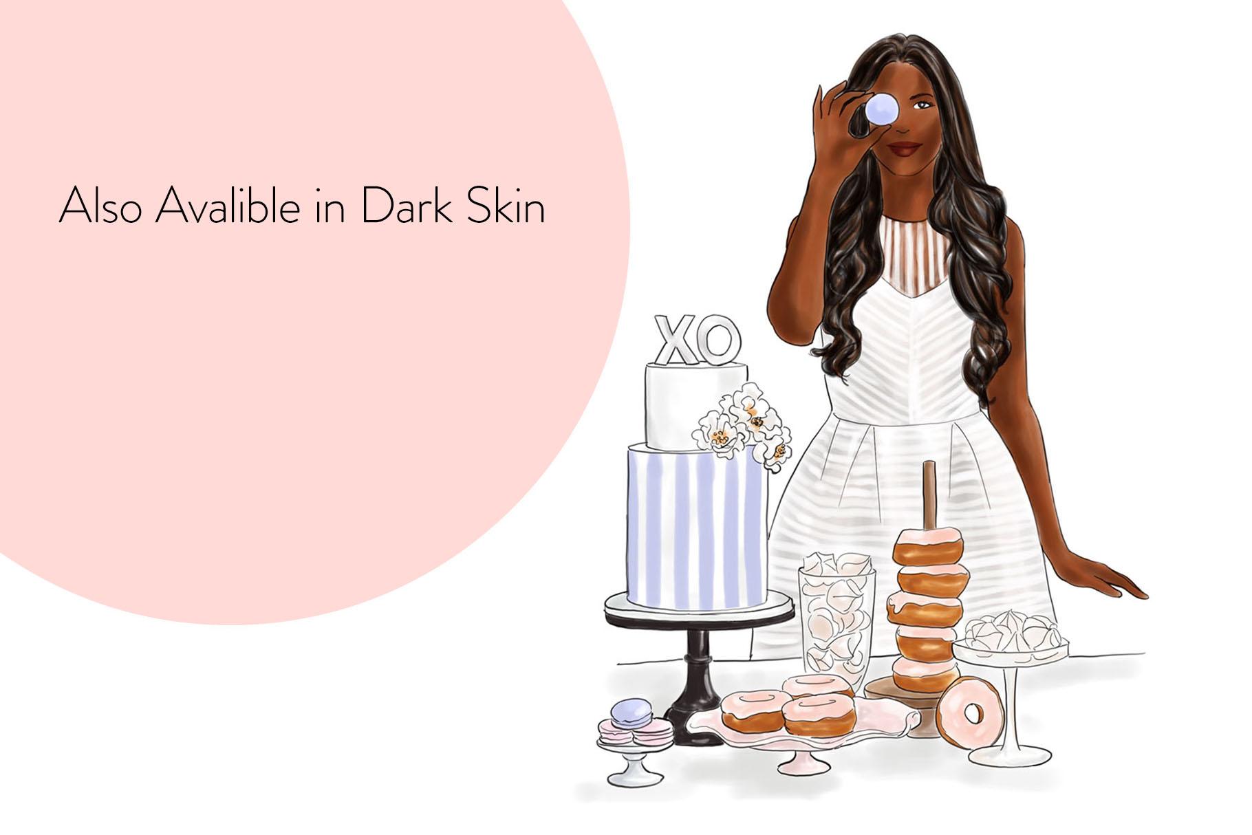Fashion illustration - Baker Girl - Light Skin example image 8