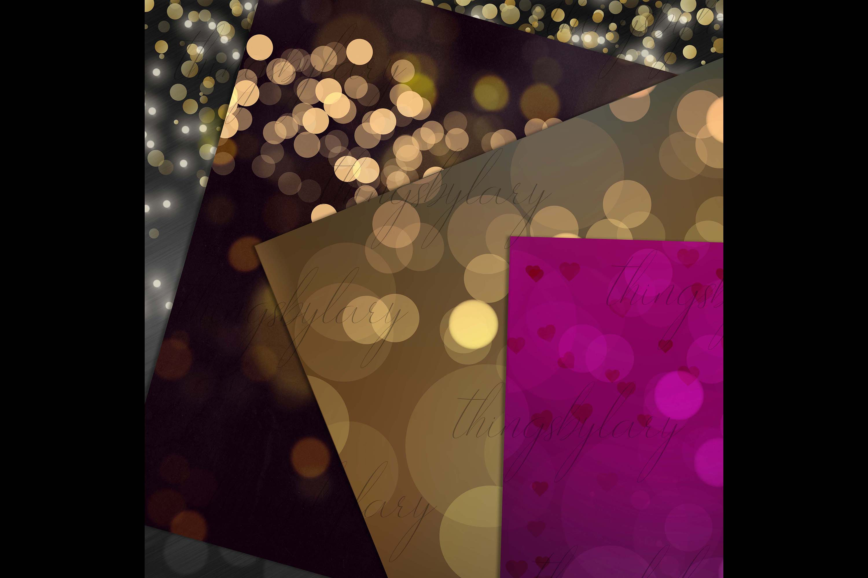 18 Luxury Bokeh Background Digital Images Gold Bokeh Heart example image 5