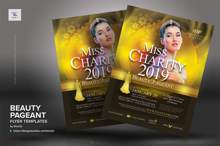 Beauty Pageant Flyer Templates example image 2