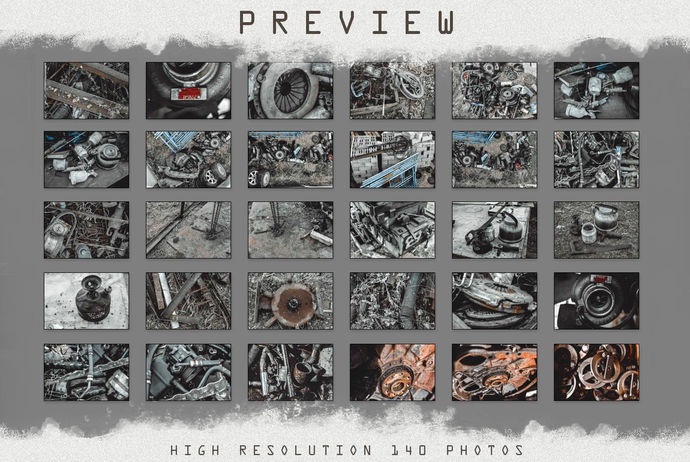 140 STEAMPUNK GRUNGE TEXTURES overlays background digital example image 3