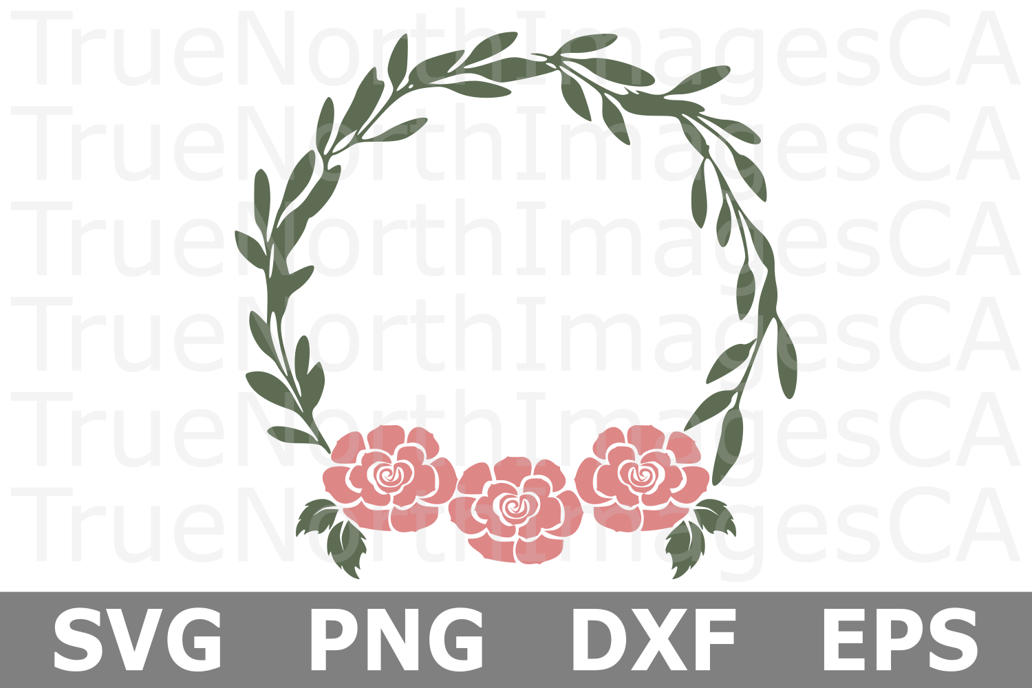 Floral Wreath - A Wreath SVG Cut File example image 1