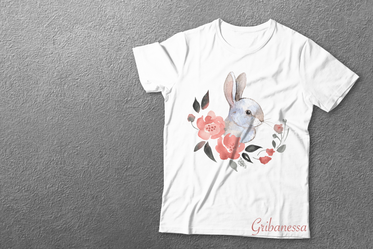 Rabbit and flowers example image 5