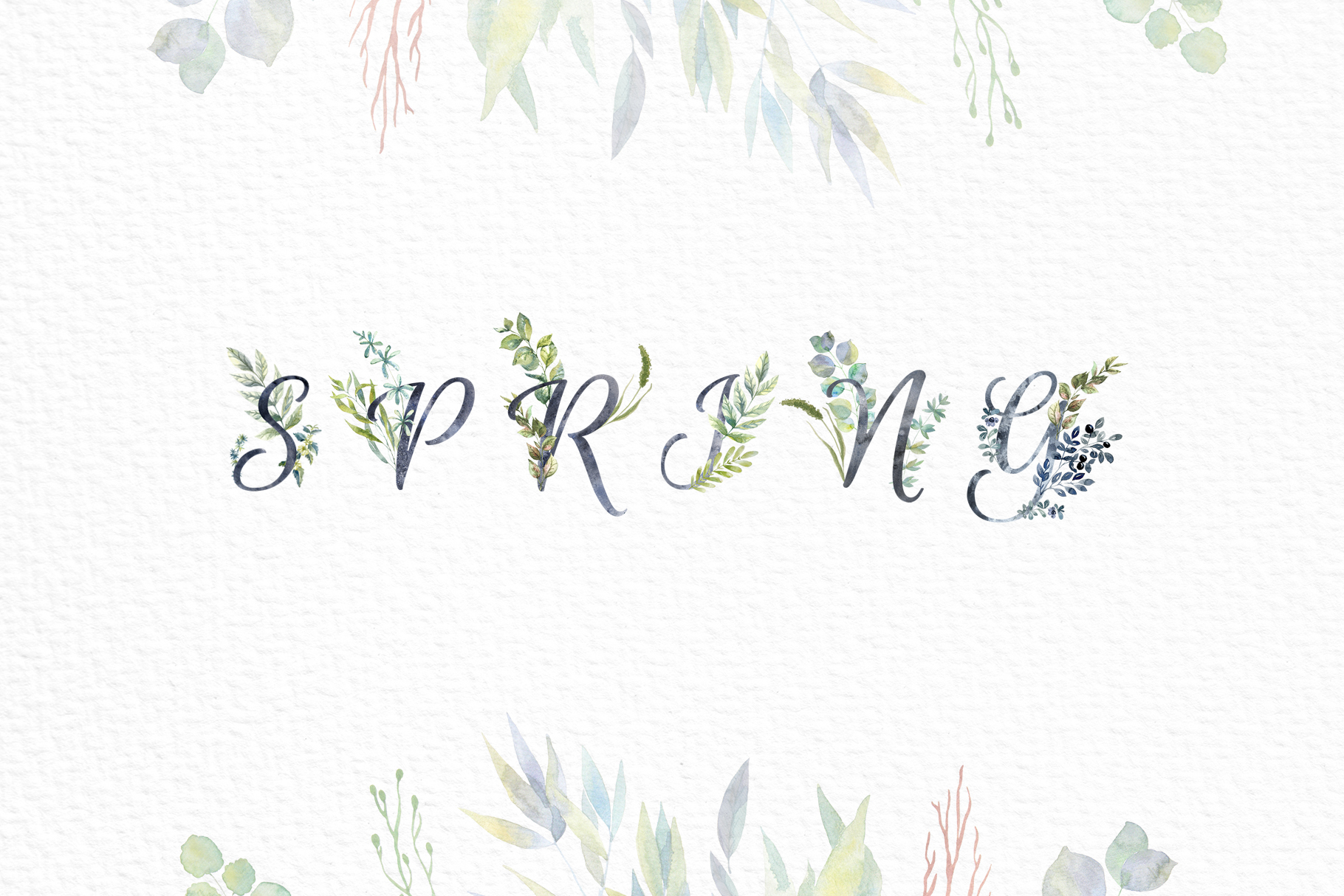 Floral Alphabets Collection. example image 6