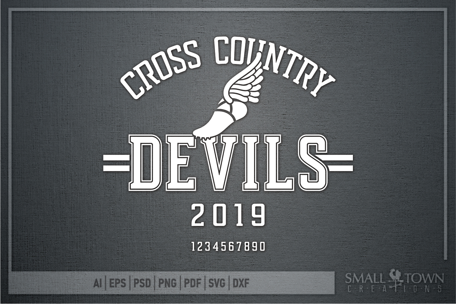 Devil Cross Country, Sports, Logo, PRINT, CUT & DESIGN example image 5
