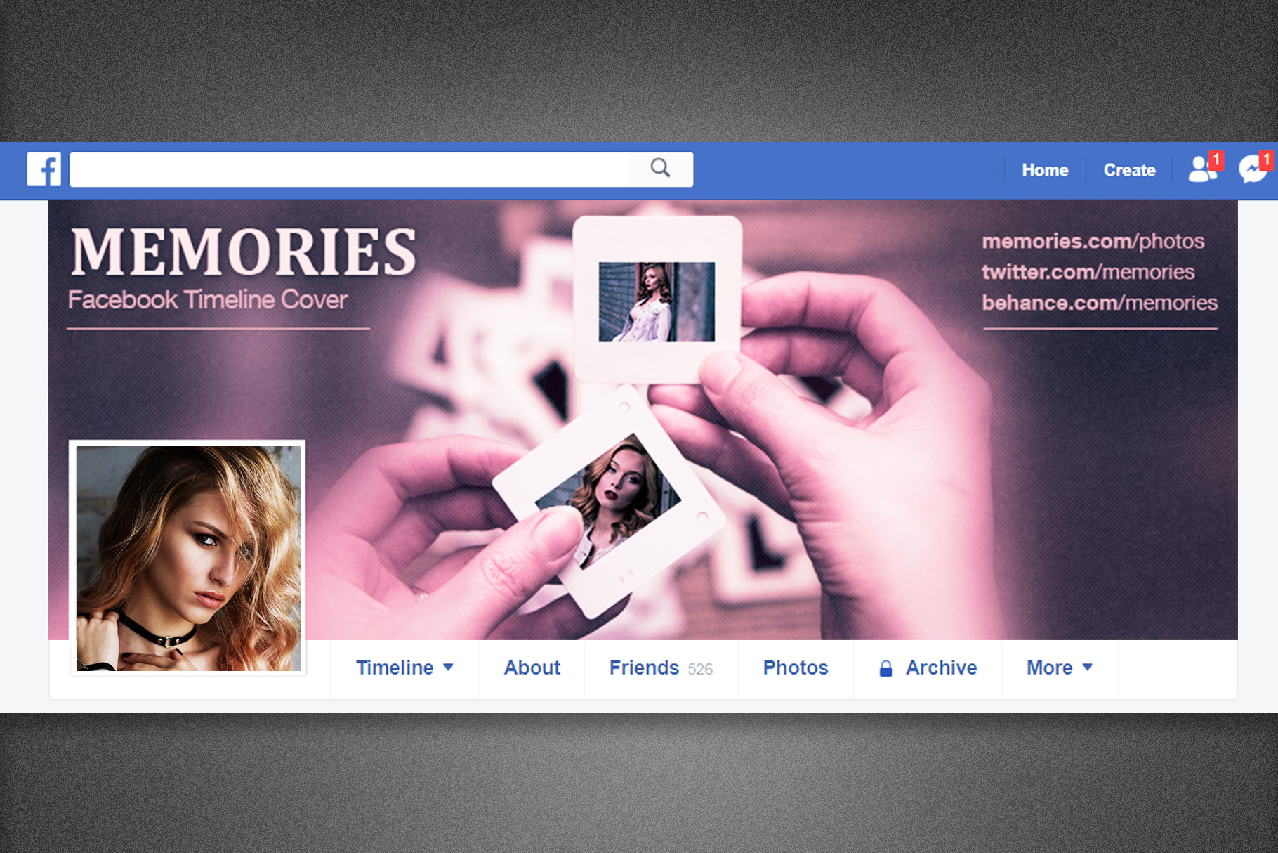 Memories Facebook Timeline Cover example image 4