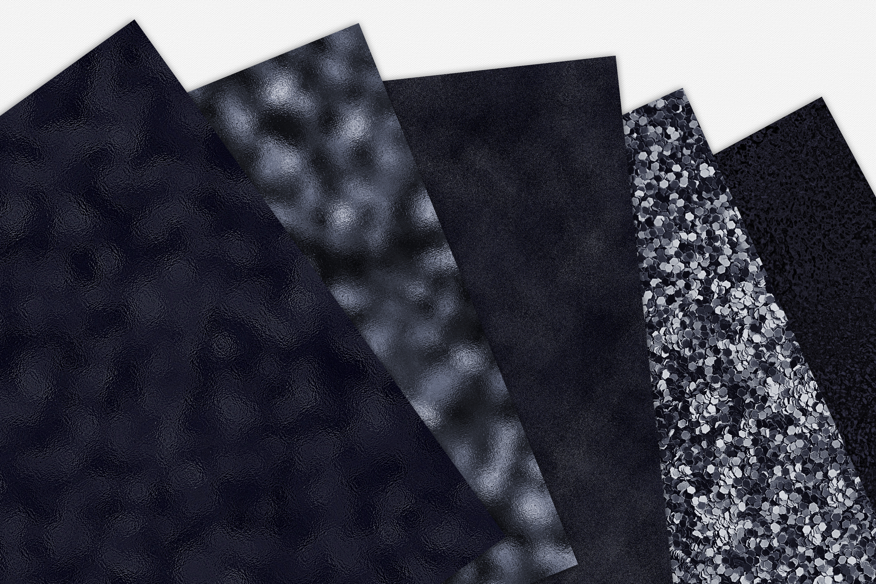 15 Black Metallic, Foil and Glitter Digital Papers example image 7