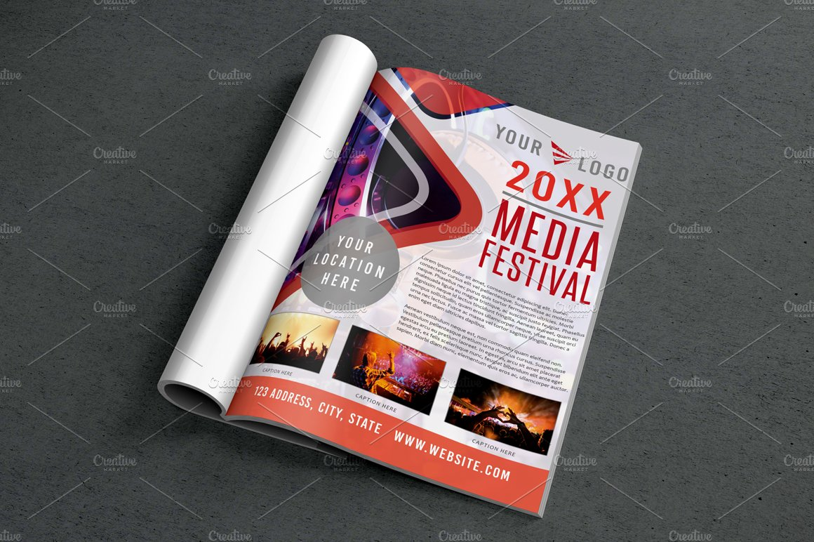 3 Magazine Newsletter Ad Page example image 3