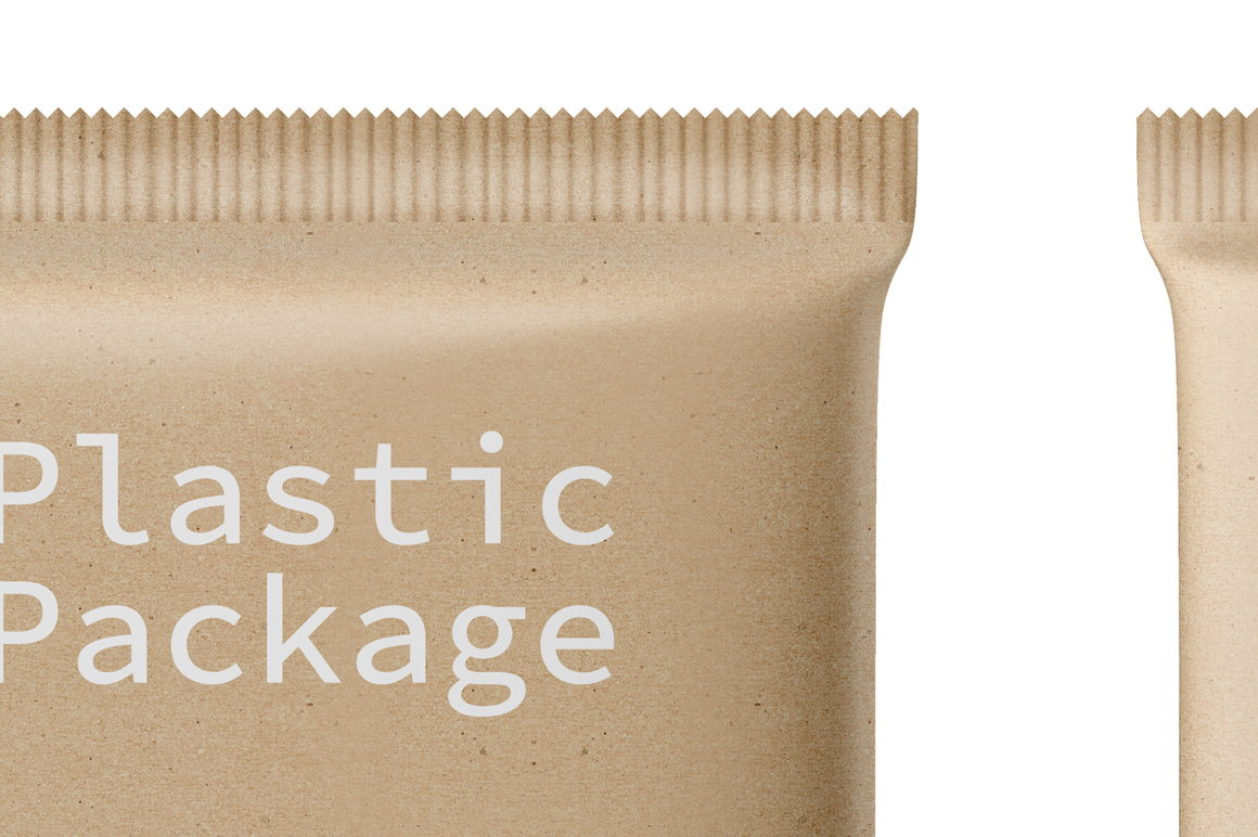 Kraft Snack Package Mockup Front & Back View example image 4