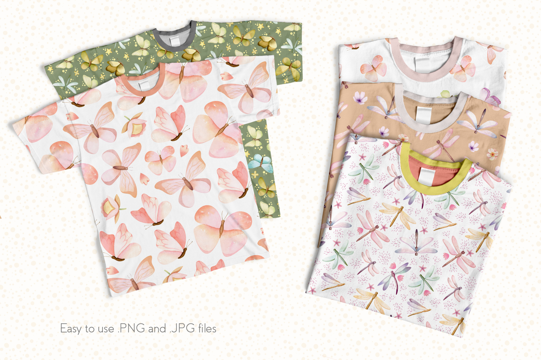 Butterflies and Dragonflies Patterns Collection example image 19
