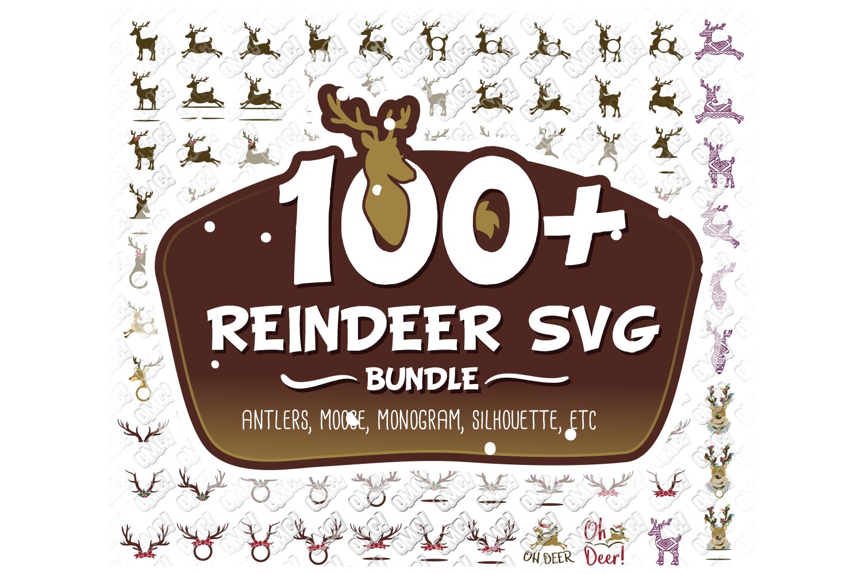 Reindeer SVG Bundle Antlers in SVG, DXF, PNG, EPS, JPEG example image 1