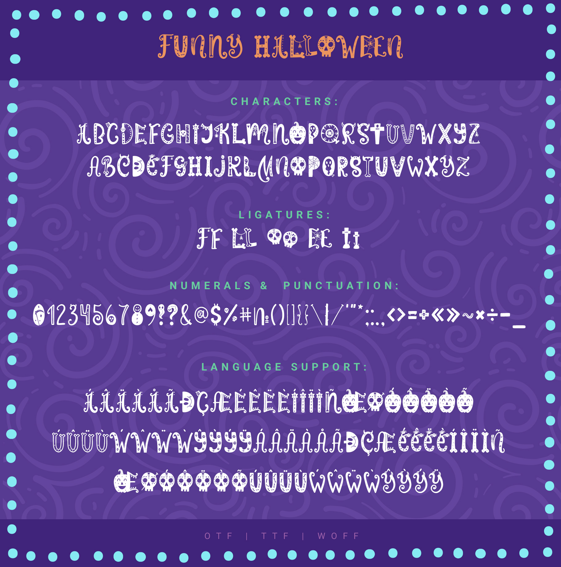 Funny Halloween Font example image 7