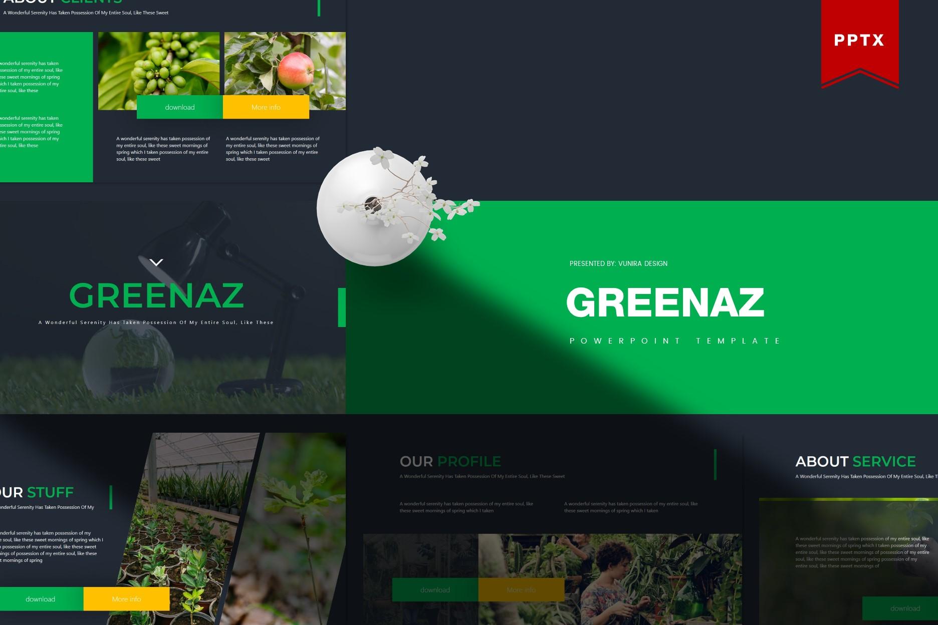 Greenaz | Powerpoint, Keynote, GoogleSlides Template example image 3