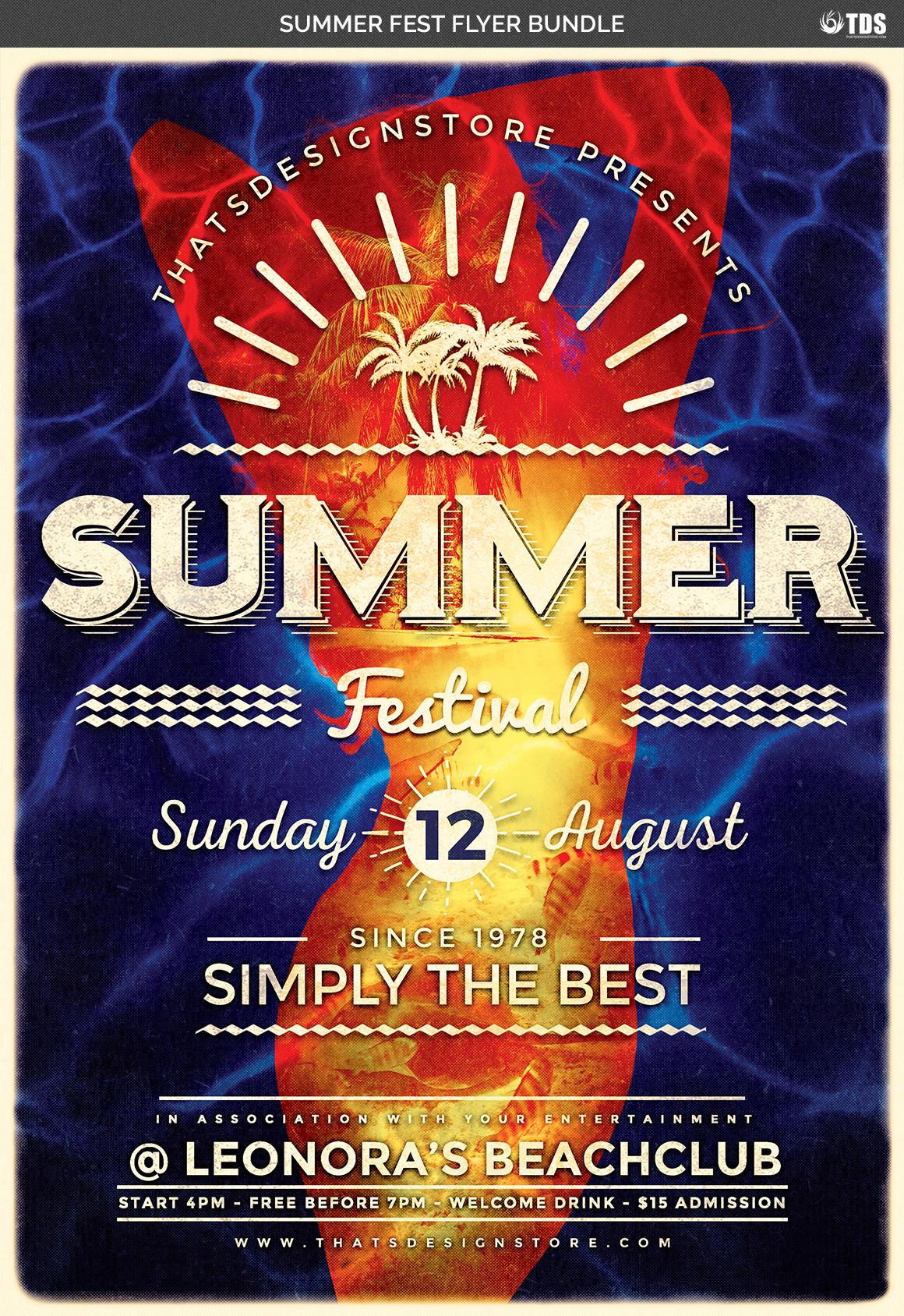 Summer Fest Flyer Bundle example image 6