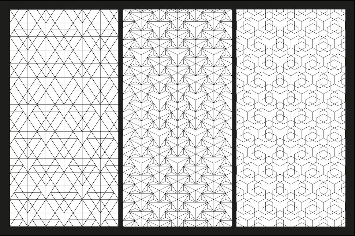 Vector seamless geometric patterns example image 5