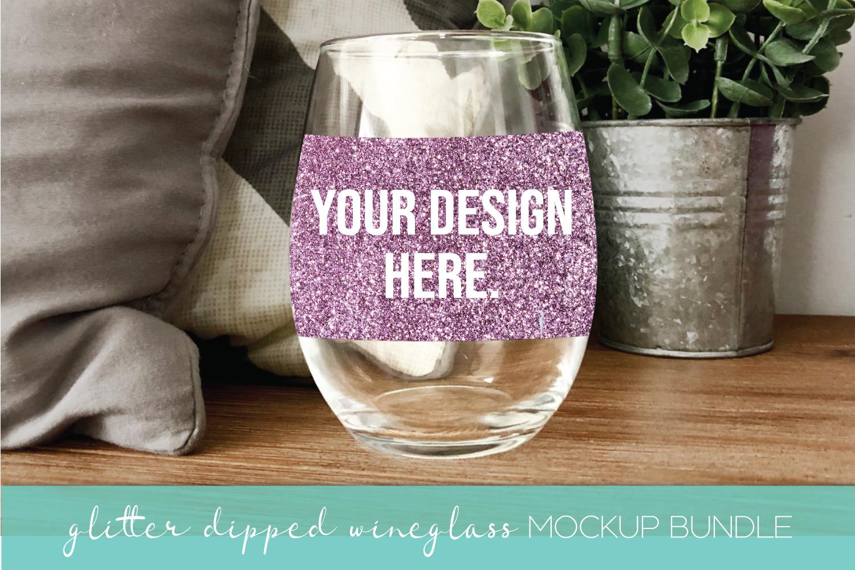 Mockup Bundle - Wineglass - Wood Sign - Pillow PSD JPG example image 8