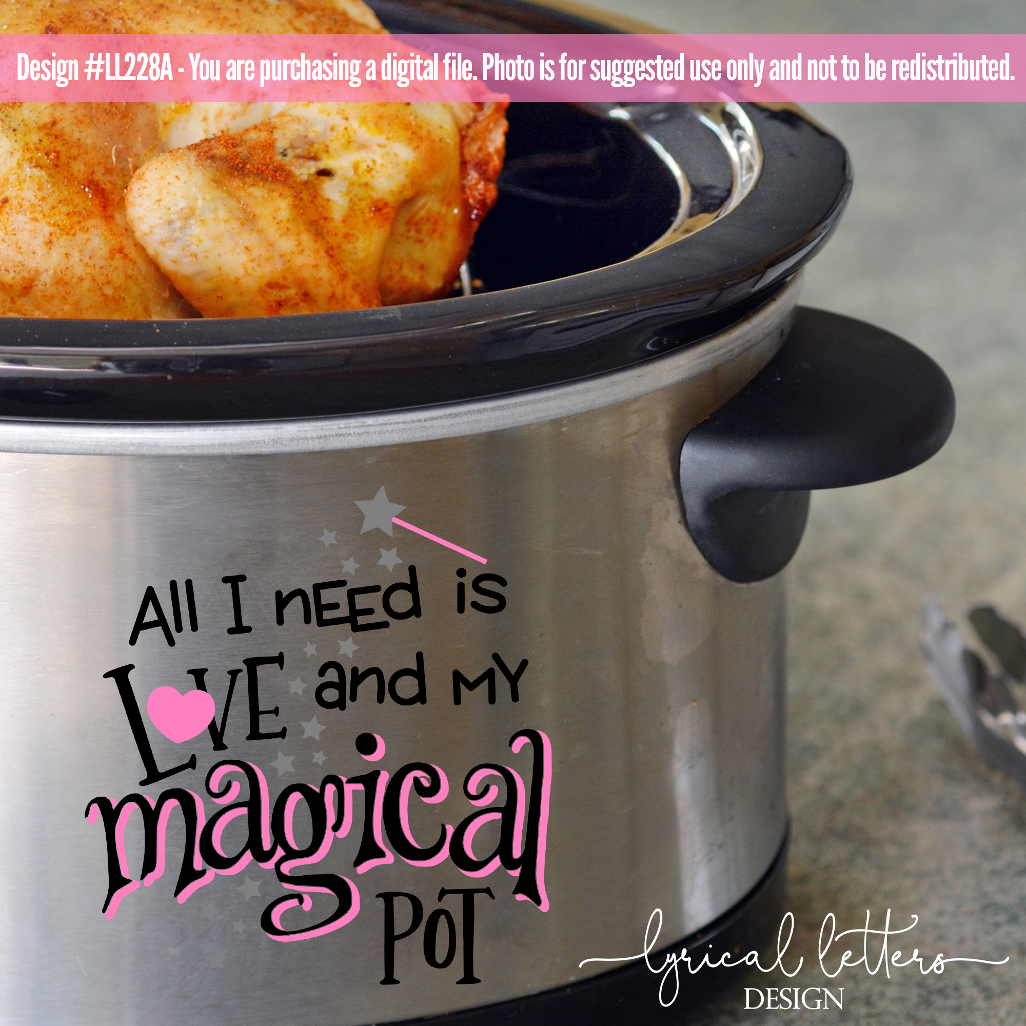 Slow Cooker Pressure Cooker All I Need is Love SVG LL228A example image 2