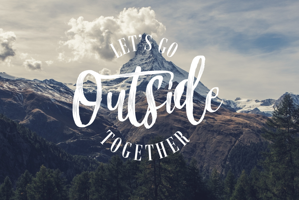 Mountain Script - Brush Fonts example image 3