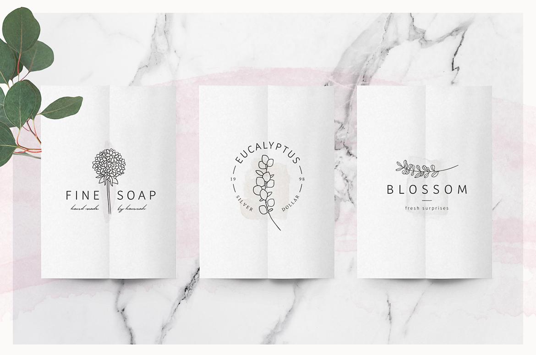 So Flowery Branding Kit + Watercolours example image 6