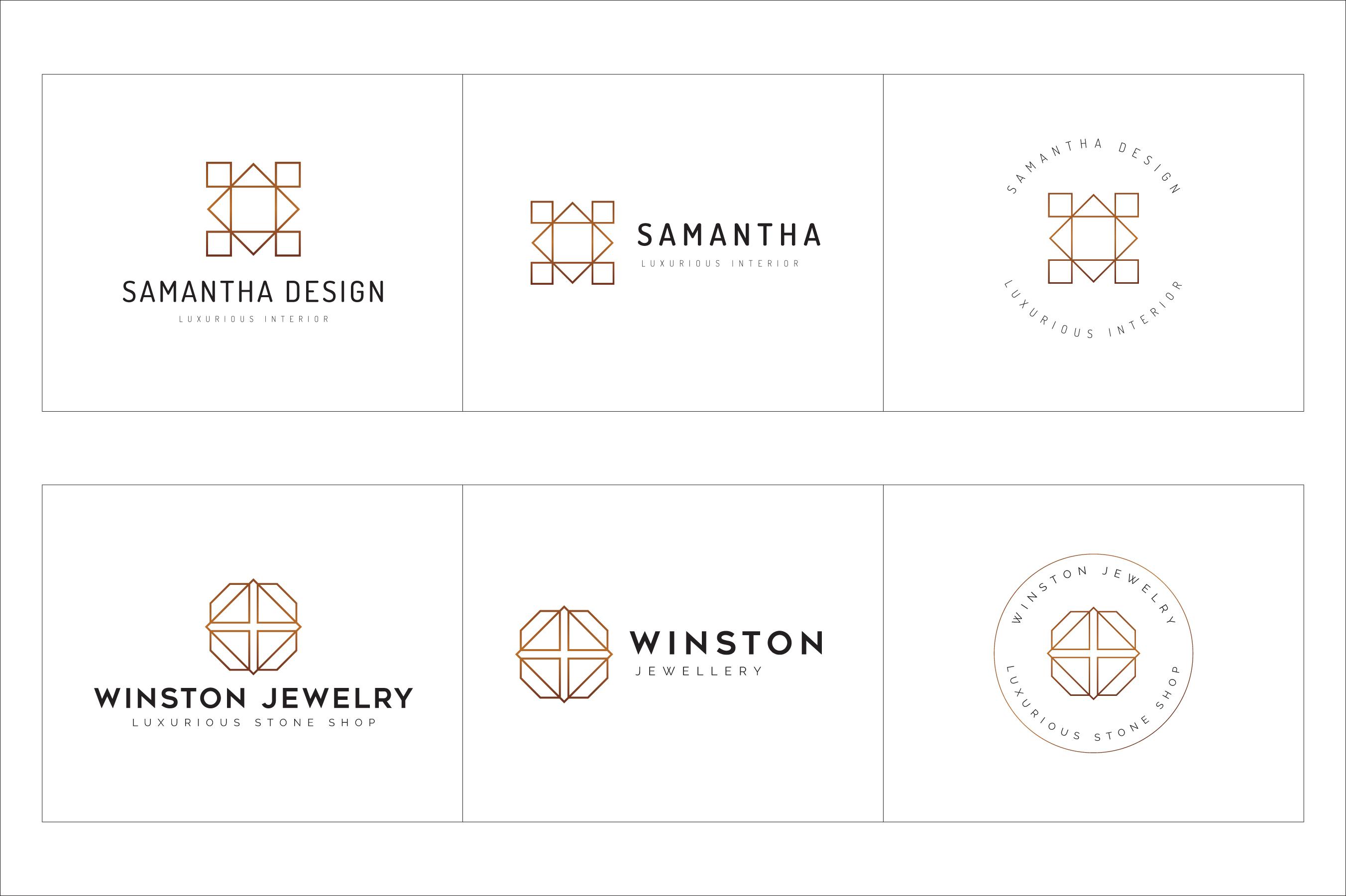 300 Geometric Premade Logo Bundle example image 17