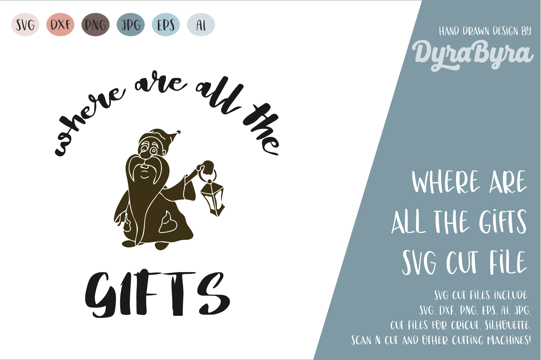 Where are all the Gifts SVG / Gnome SVG / Christmas SVG example image 2