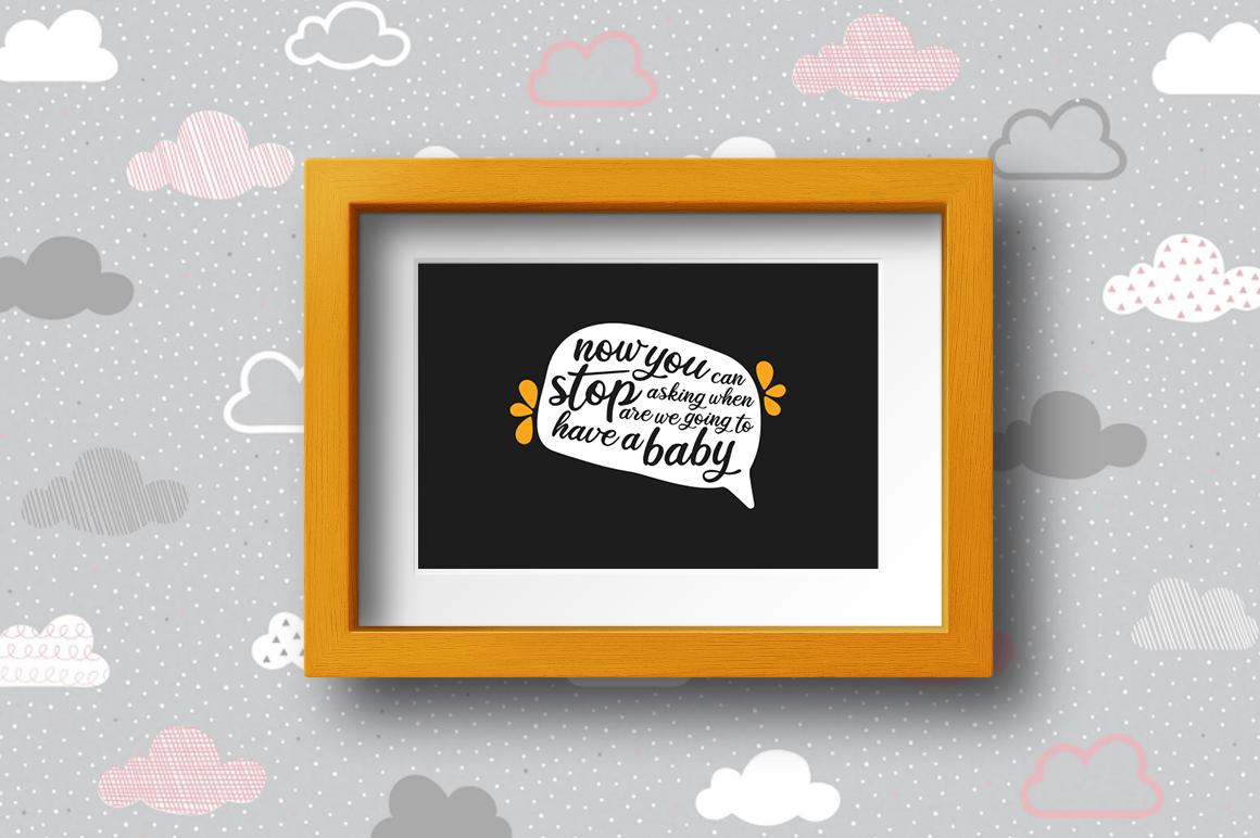 BUNDLE Pregnancy Announcement SVG Cut Files example image 20