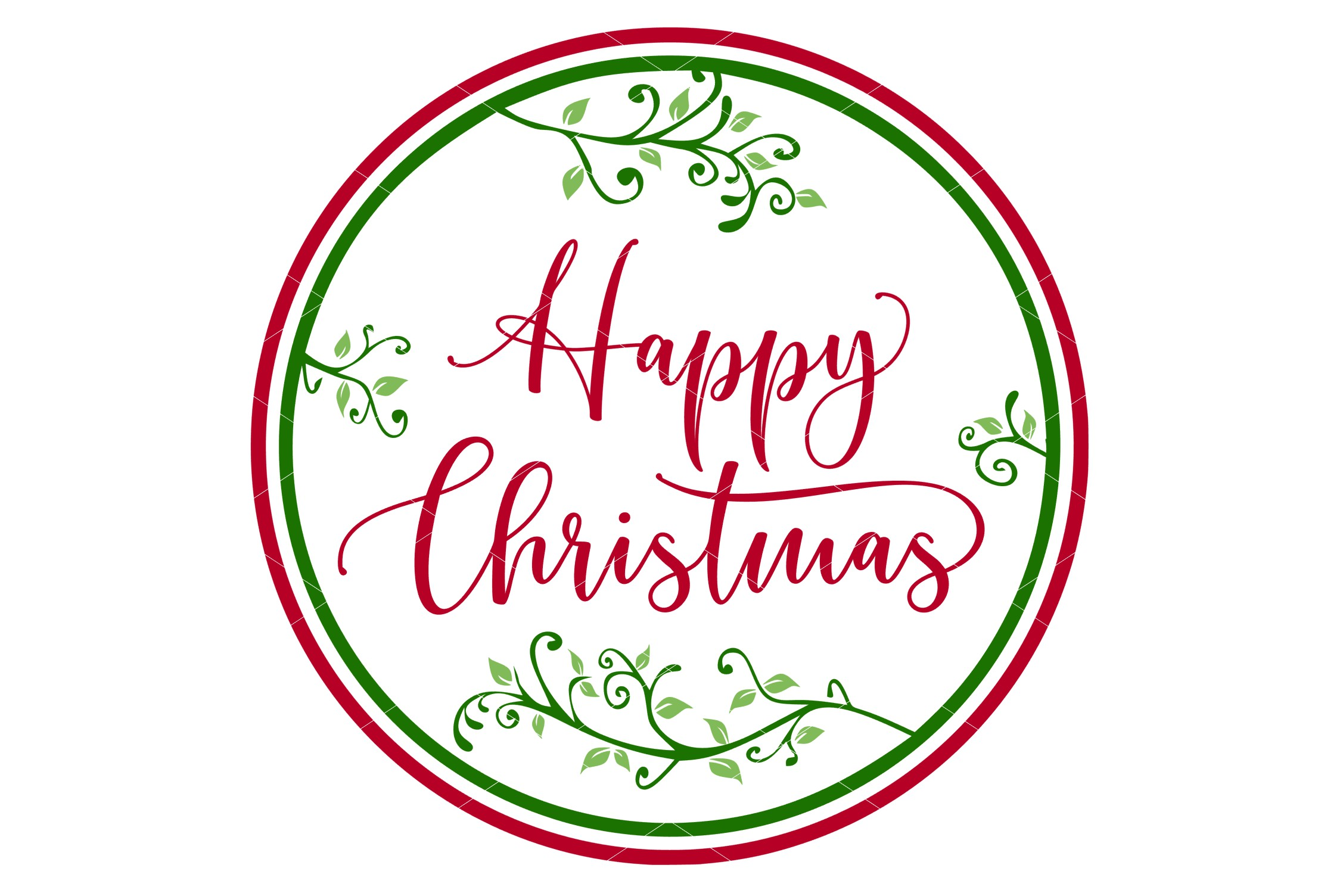 Happy Christmas SVG Printable & Sublimation PNG example image 3
