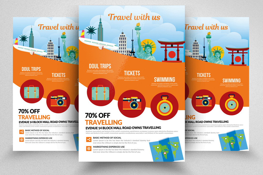 Tour & Travel Holidays Flyer Template example image 1