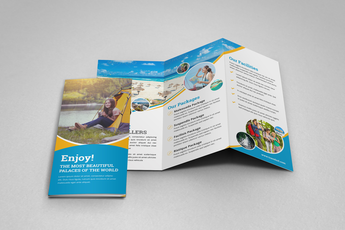 Holiday Travel Bifold & Trifold Brochure v2 example image 9
