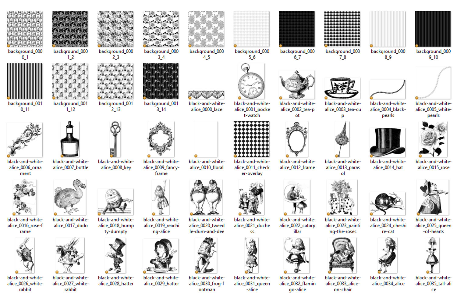 Black and White Alice in Wonderland Graphics example image 7