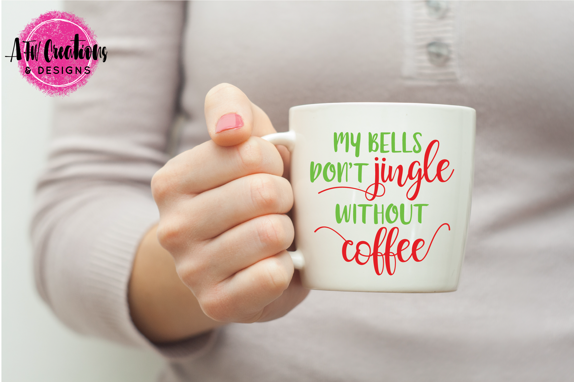 My Bells Don't Jingle Without Coffee - SVG, DXF, EPS Cut File example image 2