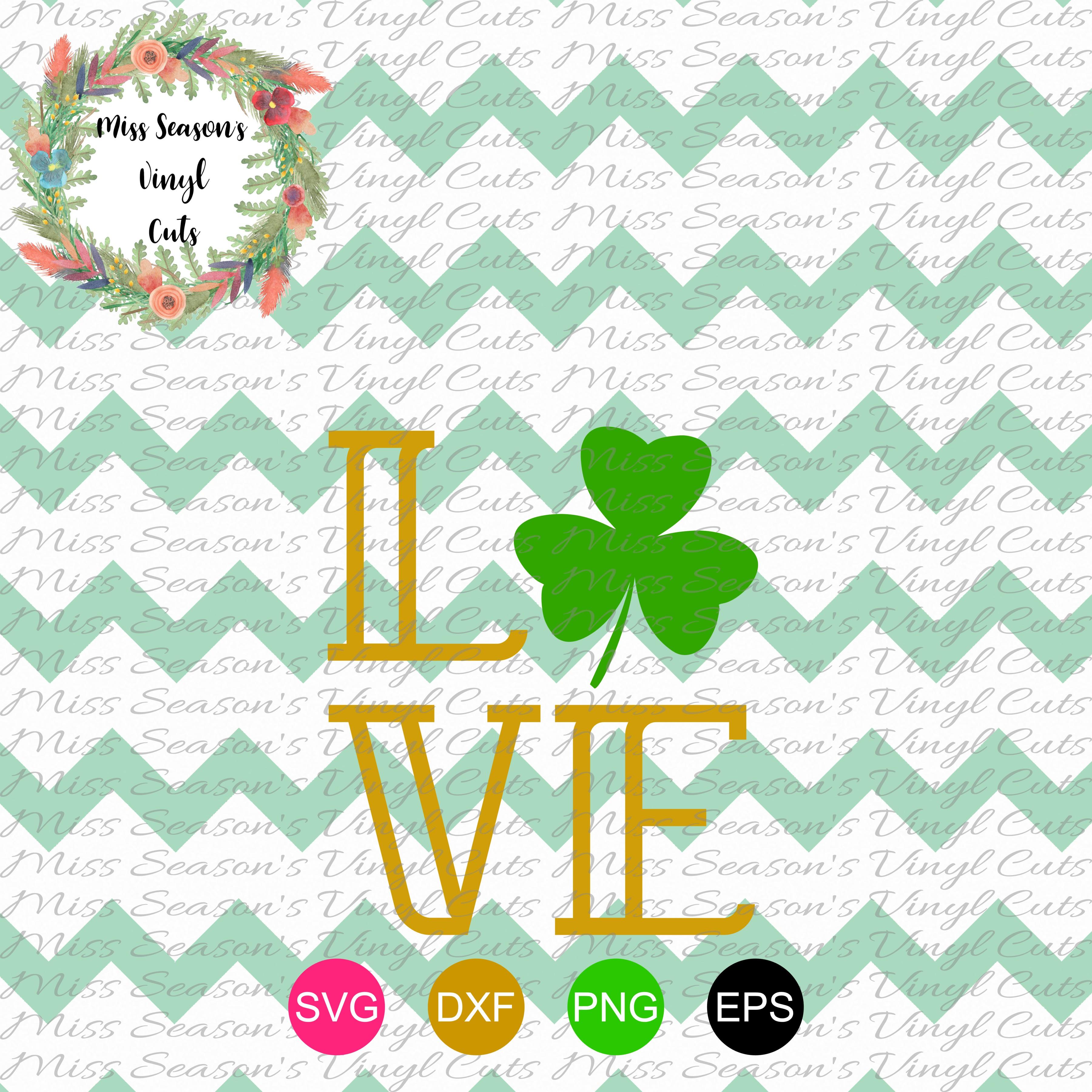 Love Shamrock SVG  example image 1