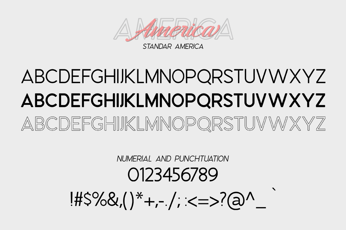 America Font Duo example image 6