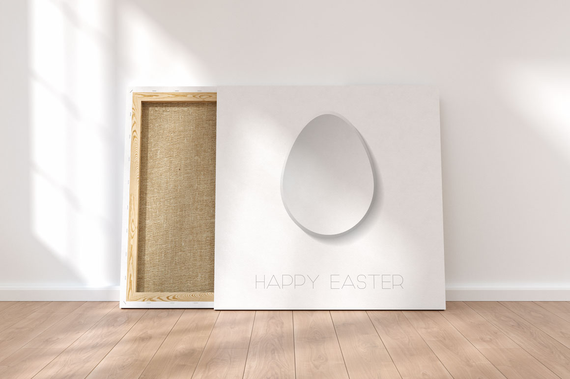 Happy Easter minimalistic cards example image 2