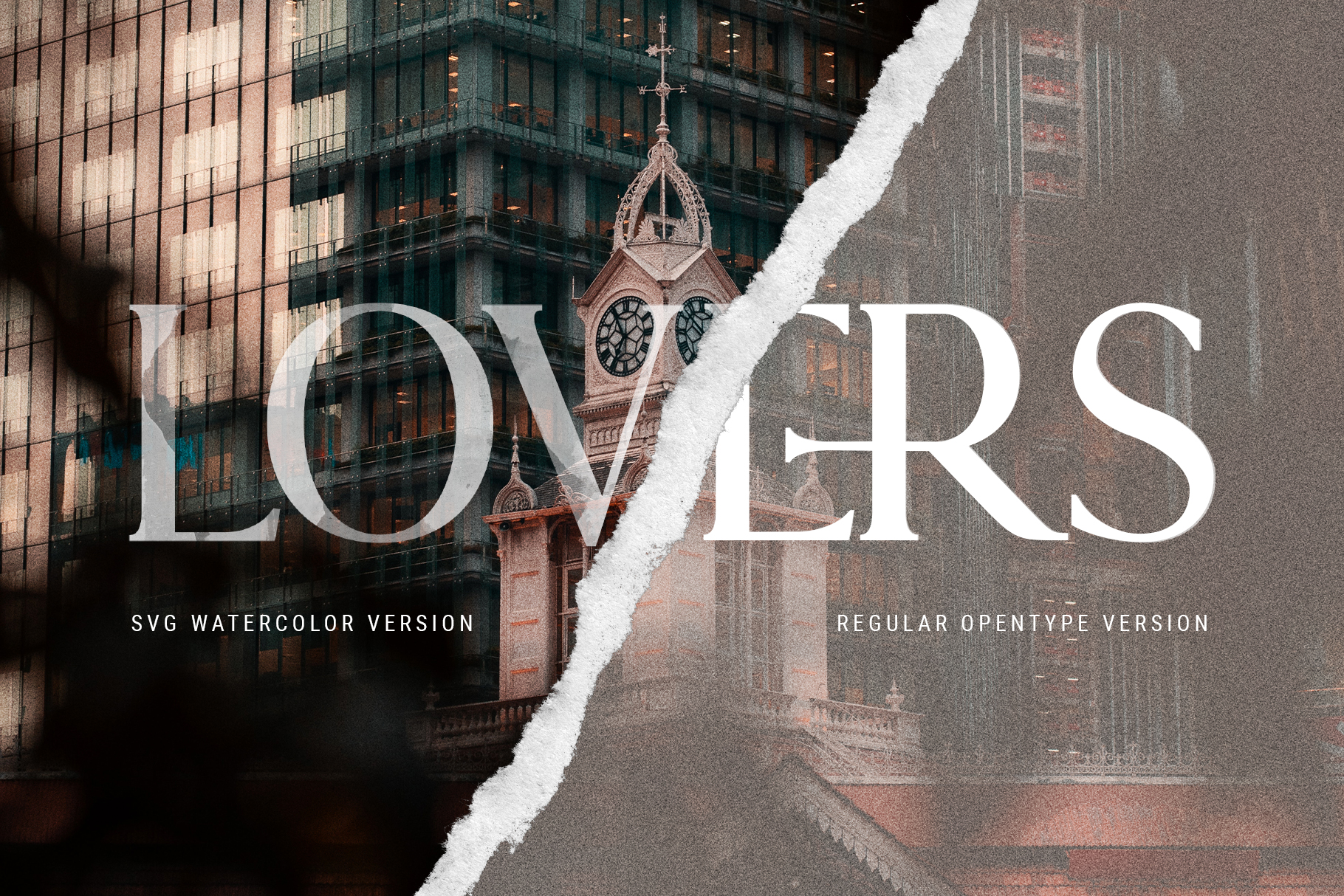 Lovers SVG Serif Watercolor Modern Font & Extras example image 5