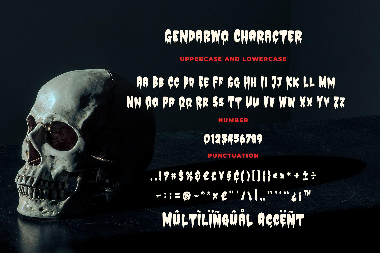 Gendarwo - Scary Typeface example image 4