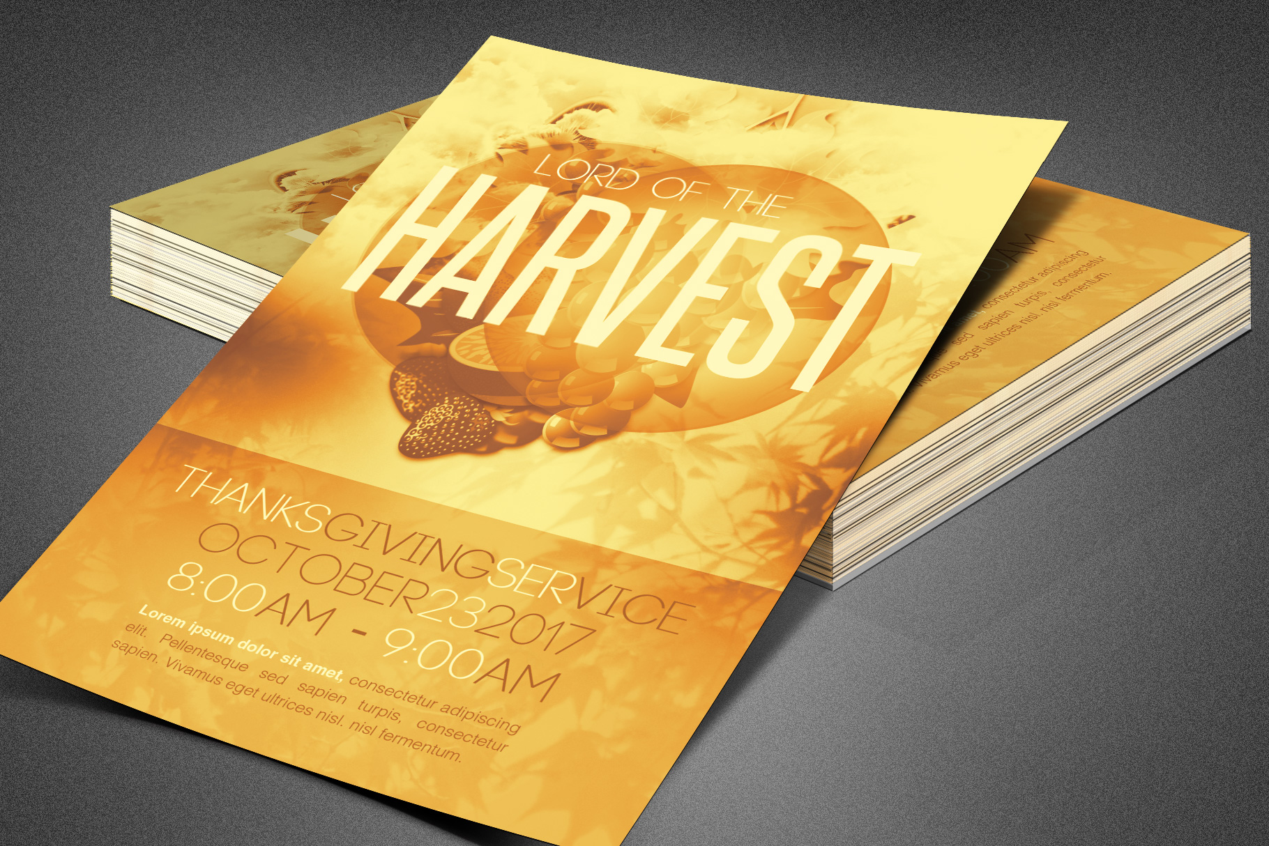 Lord of the Harvest Church Flyer example image 3