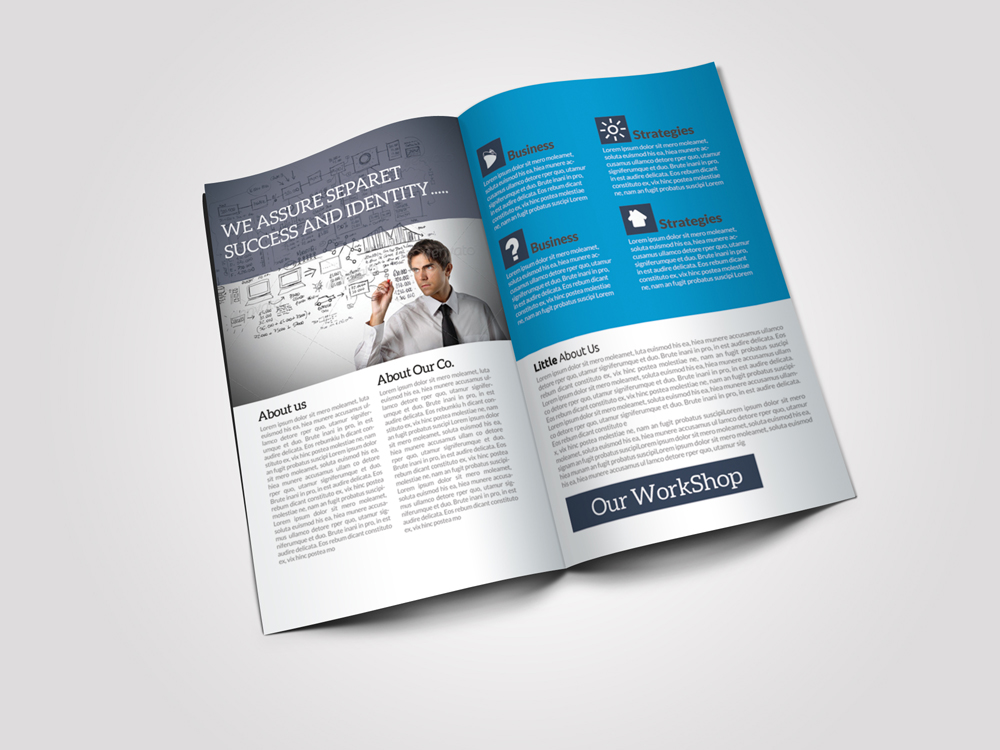8 Pages Business Corporate Bifold Brochure example image 5