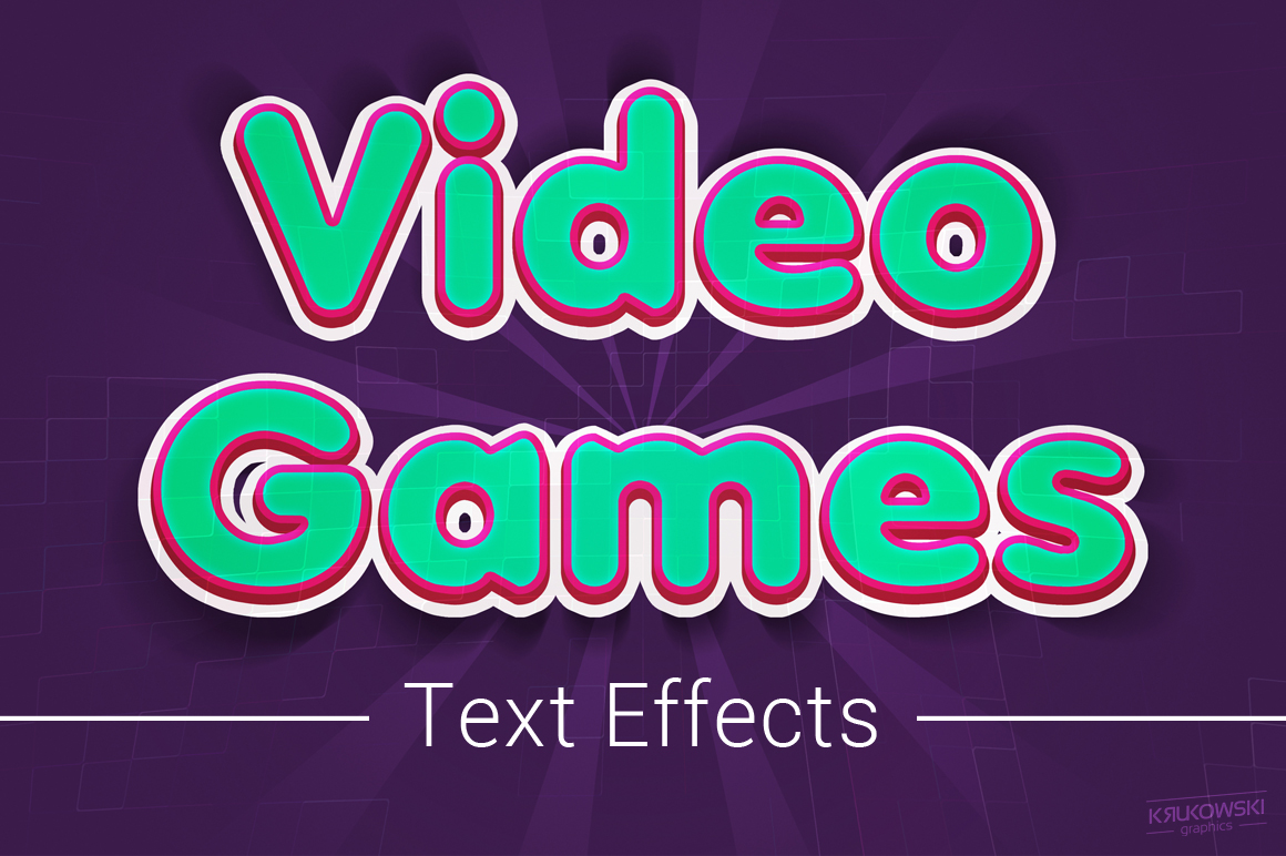 Video Games Text Effects Mockup example image 1