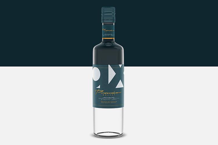 Beverage Mockup - Glass - Translucent Bottle - Matte Label example image 3