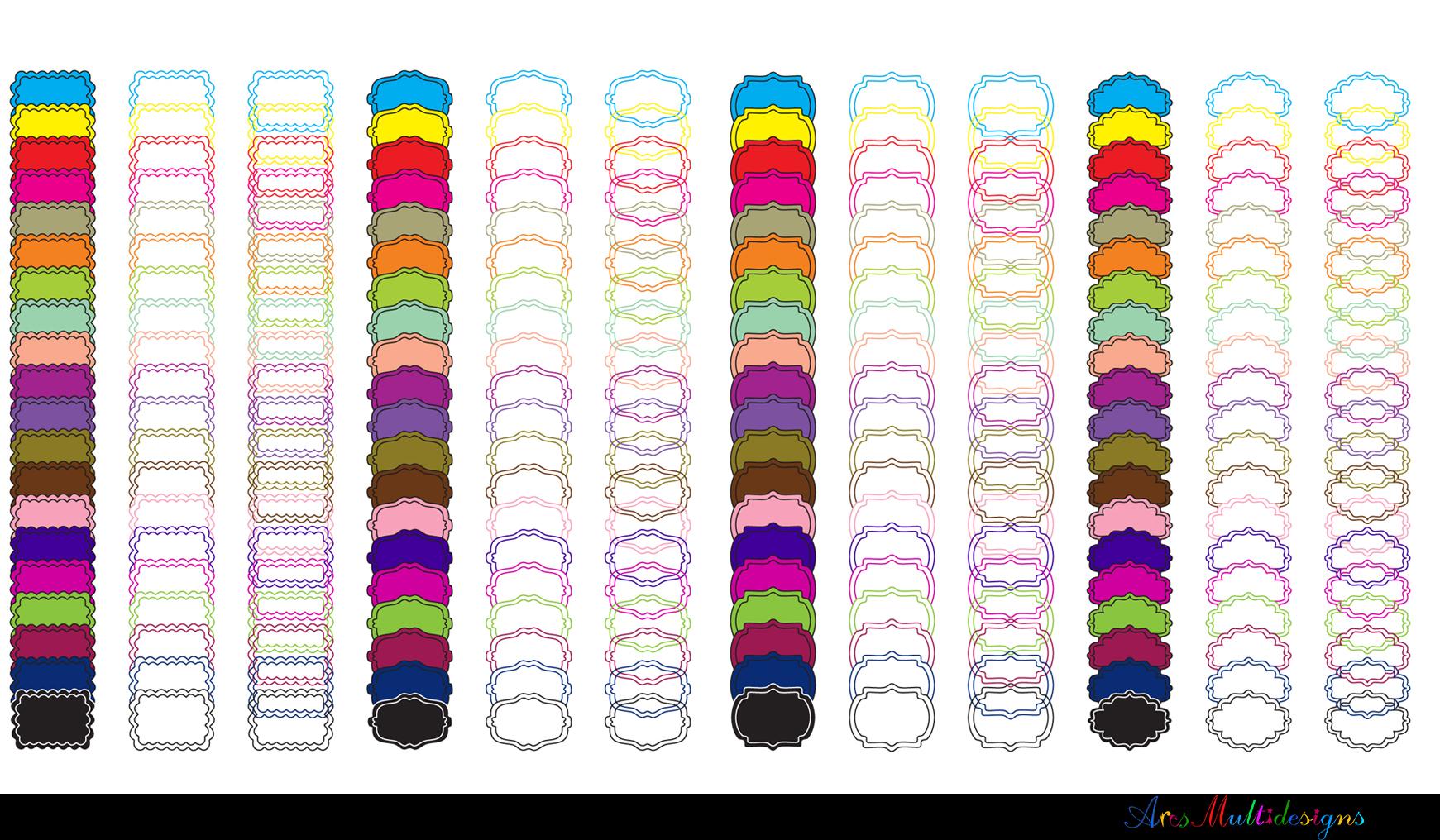 Label clipart bundle / digital label clipart bundle / frames bundle / high quality frames / digital frames clip art / label clipart example image 7